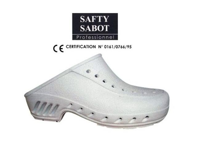 Portwest ESD Perforé Sécurité Sabots Chaussure SB Hommes Travail Non Métallique bouts FC03