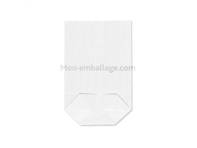 sachet corn papier kraft blanc 18 x 28 5 cm par 500 contact mon emballage. Black Bedroom Furniture Sets. Home Design Ideas