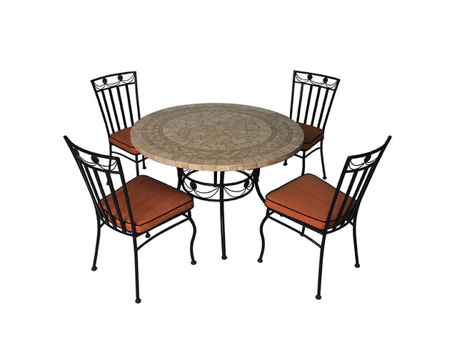 salon de jardin 4 chaises et 1 table ronde contact comex euro developments. Black Bedroom Furniture Sets. Home Design Ideas