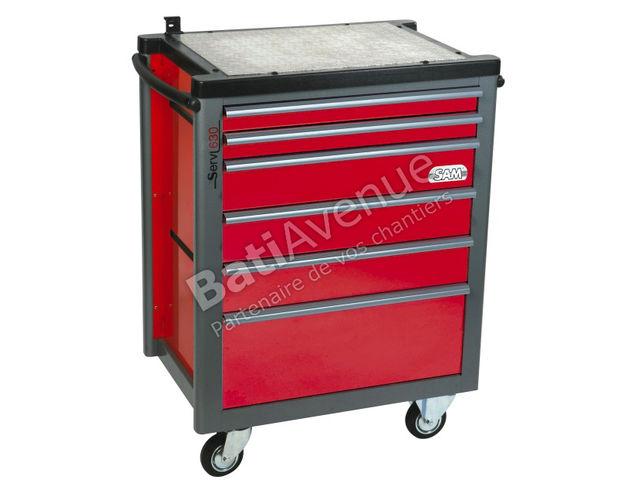 sam outillage servante 5 tiroirs avec plateau aluminium servi 530 contact bati avenue. Black Bedroom Furniture Sets. Home Design Ideas