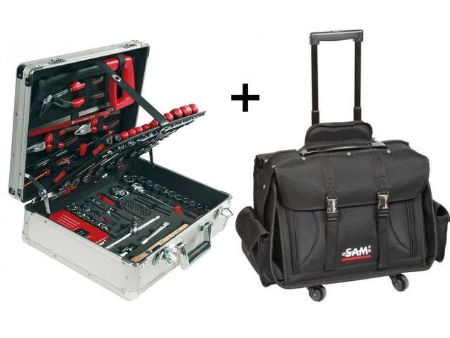 Valise 145 outils 'l'atelier à portée de main' SAM OUTILLAGE YxZe1