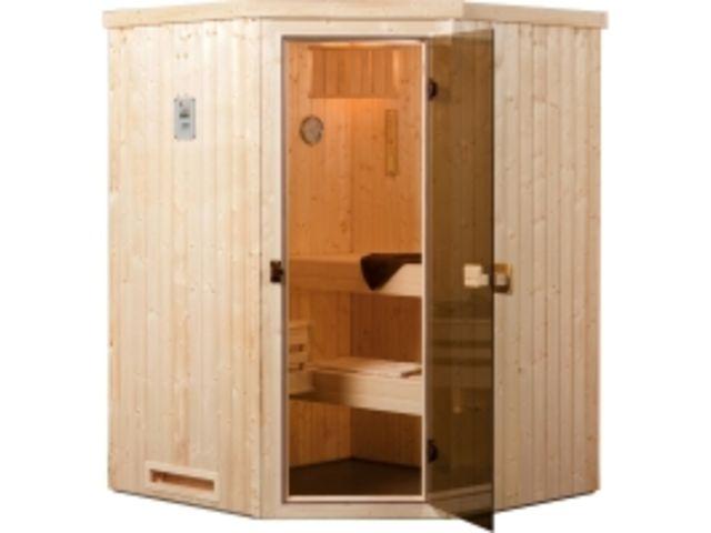 sauna vapeur falun angle exklusiv os po le 230 v 3 6 kw avec po le lumi res et c bles. Black Bedroom Furniture Sets. Home Design Ideas