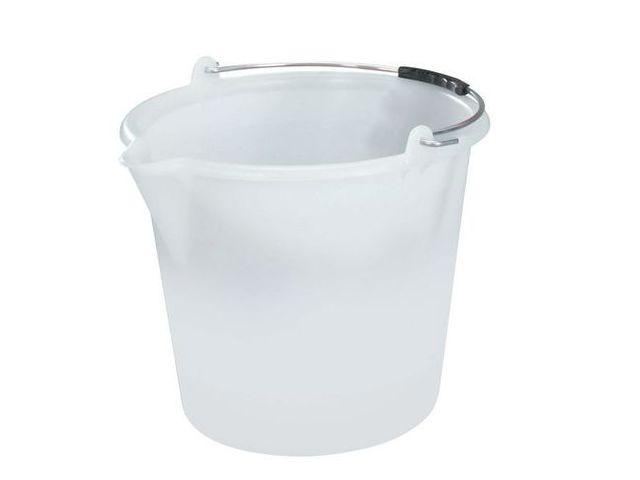 Seau rectangulaire en plastique avec bec verseur rectangulaire 8 L