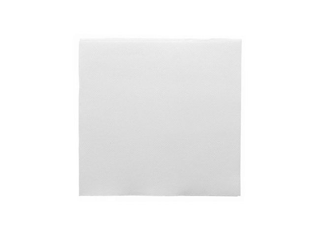 Serviette double point blanche 39 x 39 cm - par 50