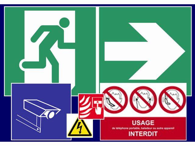 signalisation de s curit conforme la norme nf x 08 003 avertissement de danger incendie. Black Bedroom Furniture Sets. Home Design Ideas