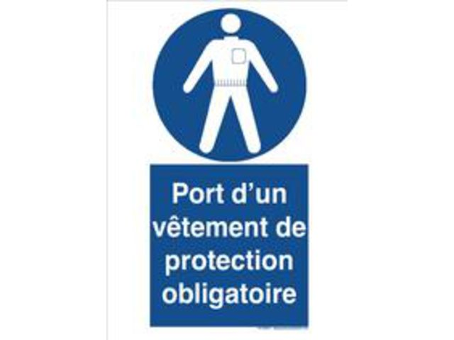 Signaux d 39 obligation le port de vetement de protection for Le ramonage est il obligatoire