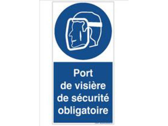 Signaux d 39 obligation le port de visiere de securite est - Port des lunettes de securite obligatoire ...