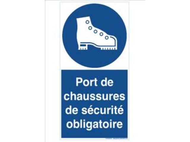 signaux d 39 obligation port de chaussure de securite. Black Bedroom Furniture Sets. Home Design Ideas