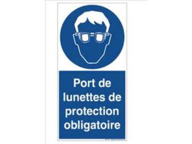 Signaux d 39 obligation port de lunettes de protection - Port des lunettes de securite obligatoire ...