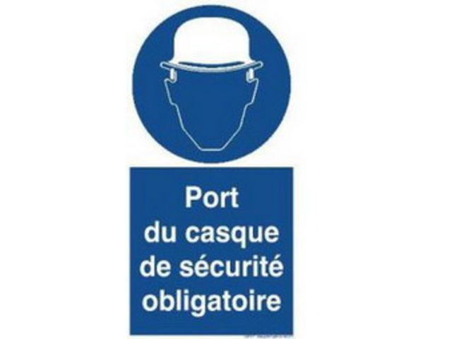 Signaux d 39 obligation port du casque de securite obligatoire contact guillard publications - Port de couche obligatoire ...