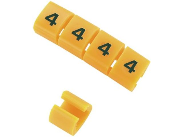 Snap-on Nylon 6 Yellow Cable Marker Q