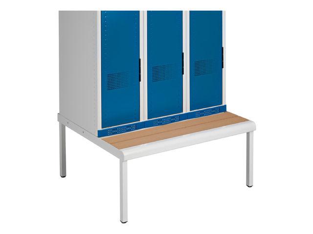 socle banc pour vestiaire monobloc largeur 80 cm contact maxiburo. Black Bedroom Furniture Sets. Home Design Ideas