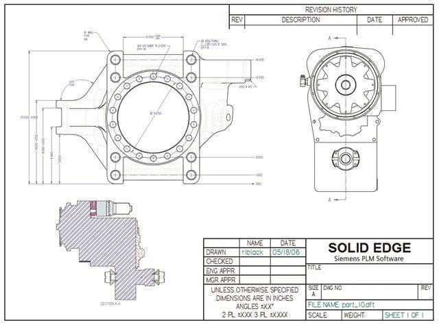 Solid edge 2d logiciel de conception 2d contact siemens - Dessin dxf gratuit ...