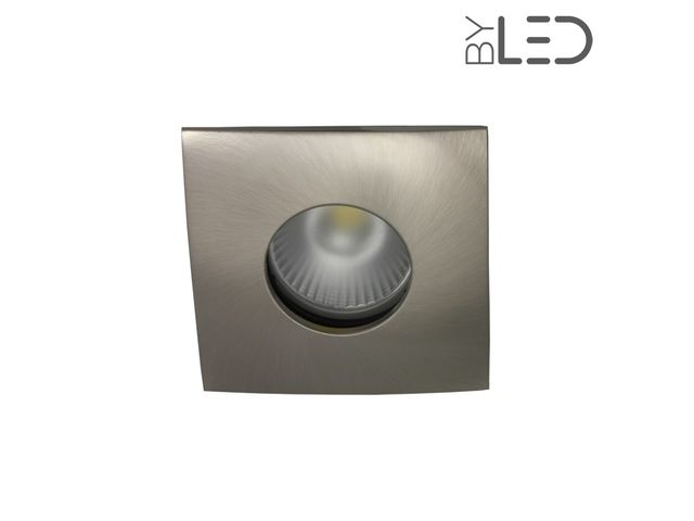 Spot encastrable collerette carrée convex SPLIT - Nickel satiné_FRANCE LED DIFFUSION - ByLED