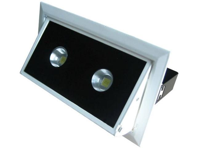 spot led double 30w angle 60 rectangulaire encastrable orientable blanc pur contact la lumiere led. Black Bedroom Furniture Sets. Home Design Ideas