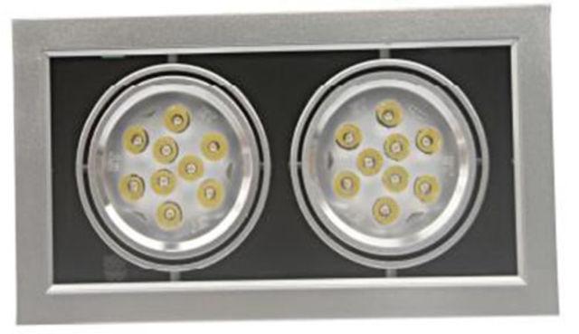 Spot led double 36w rectangulaire encastrable orientable - Spot led encastrable plafond orientable ...