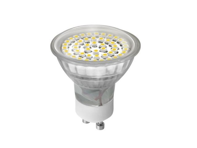 Spot led GU10 3.4 watt (eq. 25 watt) - Couleur eclairage - Blanc chaud 3000°K