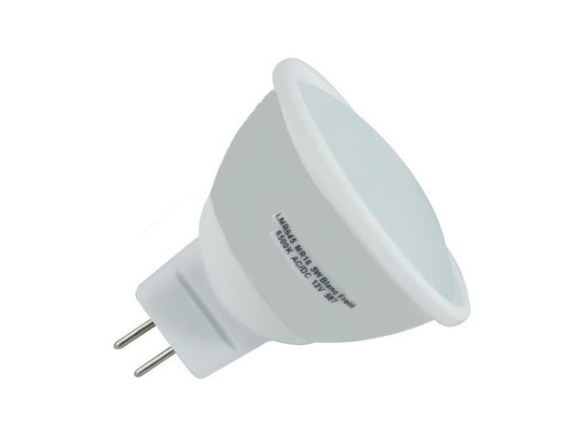 Spot led GU5.3 3 watt (eq. 30 watt) - Couleur eclairage - Blanc chaud 3000°K