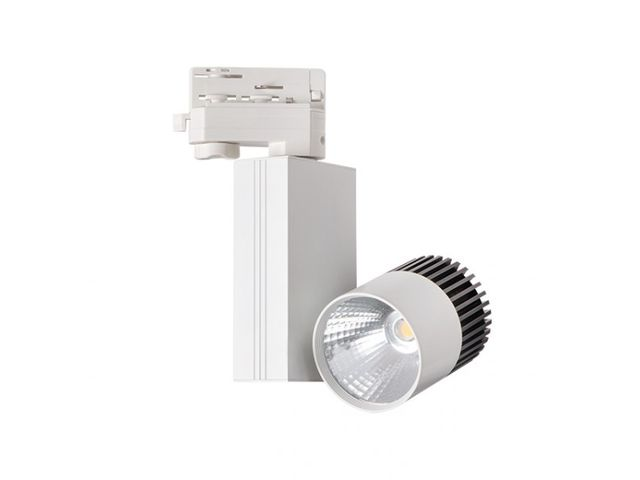 Spot led sur rail 11 watt - Couleur eclairage - Blanc neutre. Finition - Blanc