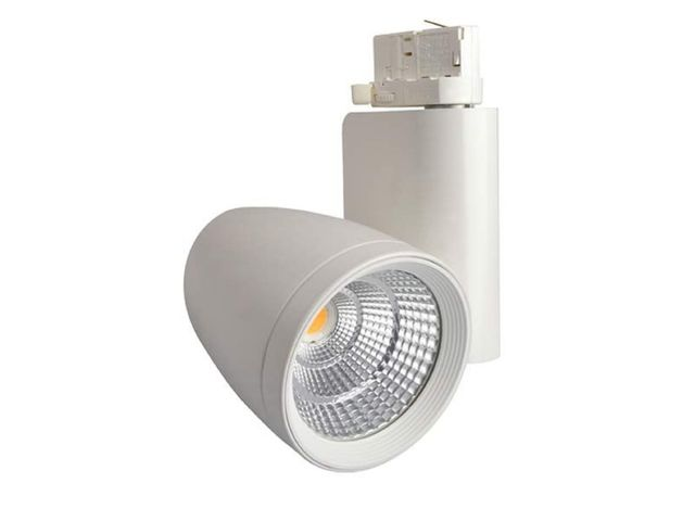 spot led sur rail tracklight led cob 25w airis contact. Black Bedroom Furniture Sets. Home Design Ideas