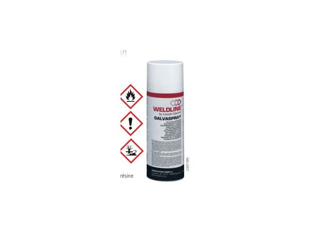 Spray anti-corrosion protection chaleur: GALVASPRAY - WELDLINE By LINCOLN ELECTRIC