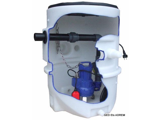 station de relevage ksb evamatic box n 1500 e p pour eaux us es et vannes wc contact groupe. Black Bedroom Furniture Sets. Home Design Ideas