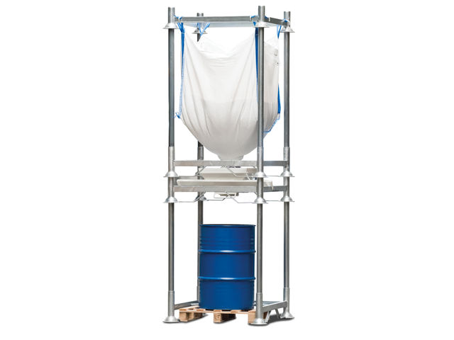 station de vidange pour conteneur souple big bag g r v s. Black Bedroom Furniture Sets. Home Design Ideas