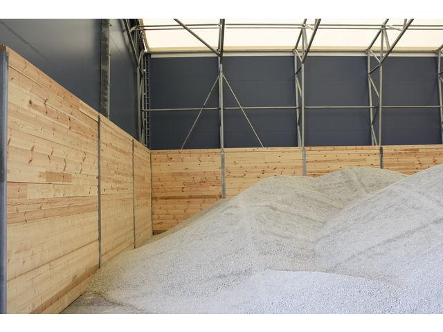 Structure pour stockage en vrac granulats c r ales mat riel contact espace couvert - Prix location hangar agricole ...