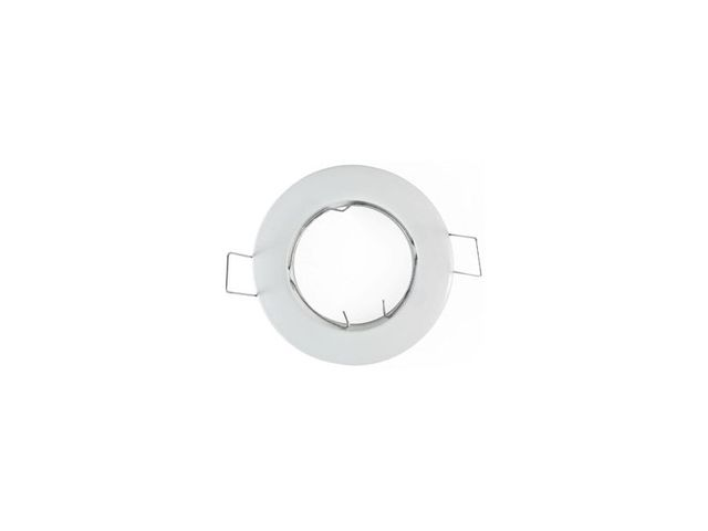 Support spot rond fixe 78 mm blanc - Finition - Blanc
