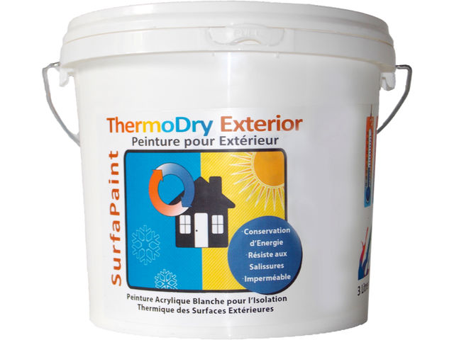 surfapaint thermodry exterior peinture thermo isolante r fl chissante acrylique pour fa ade. Black Bedroom Furniture Sets. Home Design Ideas