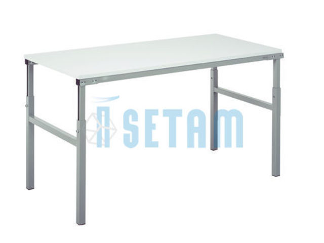Table atelier r glable en hauteur 150x50 contact setam Table d appoint reglable en hauteur