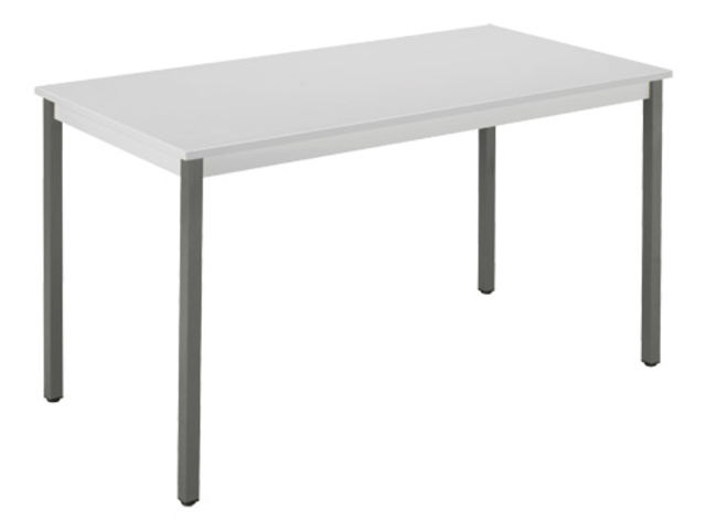 Table de bureau multiusages co gris clair 120 x 60 cm Contact
