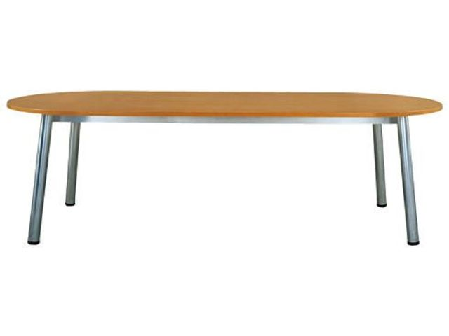 Table de réunion Design - plateau ovale 240 x 102 cm