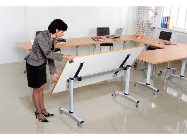 Table de r union mobile axe avec plateau pivotant contact manutan collectivites ex camif - Table camif ...