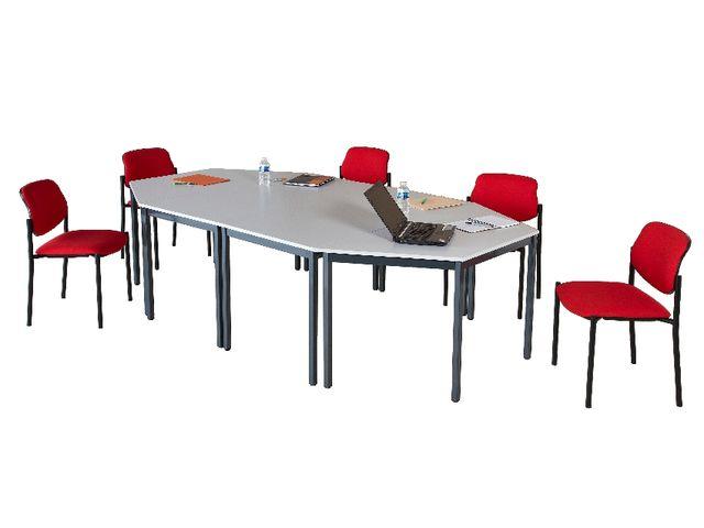 Table de r union narval pieds carr s contact manutan collectivites ex camif collectivites - Table camif ...