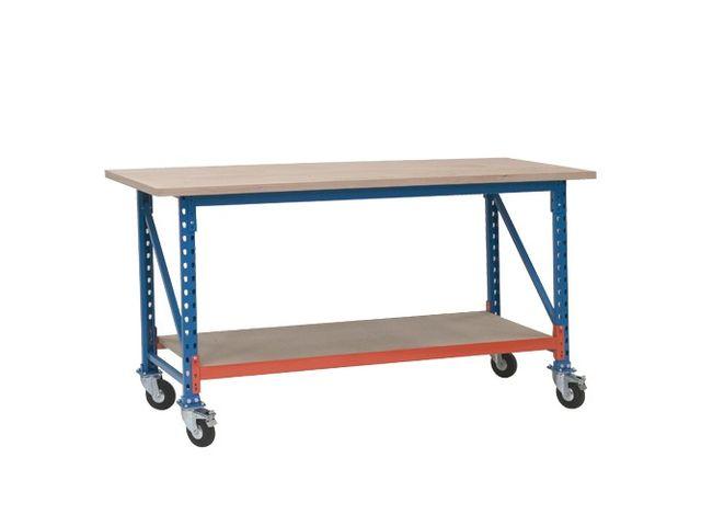 table de travail avec roulettes charge 300 kg contact. Black Bedroom Furniture Sets. Home Design Ideas