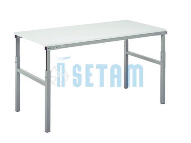 Table de travail r glable en hauteur 100x50 contact for Bureau 100x50