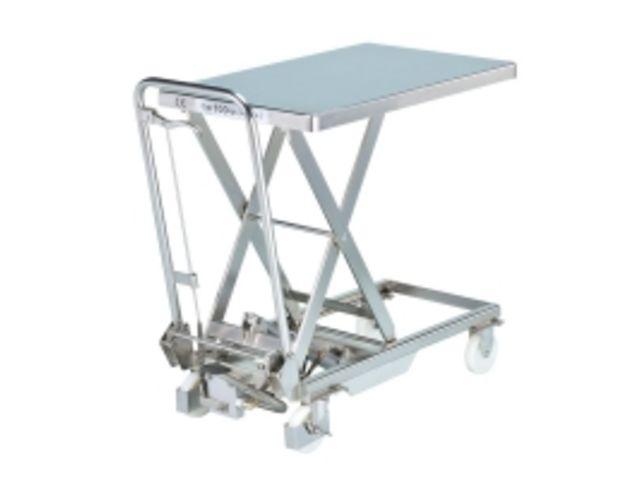 Table l vatrice hydraulique en inox contact axess - Table verin hydraulique ...