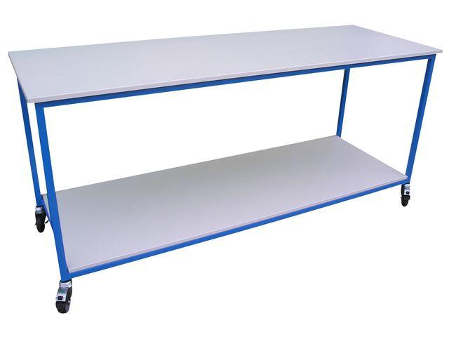 Table en acier et plateau bois 2 niveaux contact for Table acier et bois