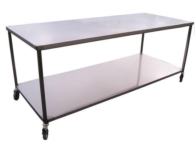 table en inox 2 niveaux contact sanchez sas. Black Bedroom Furniture Sets. Home Design Ideas