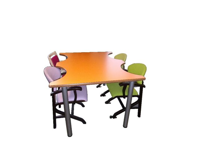 Table ergo 4 places hauteur fixe contact manutan collectivites ex camif collectivites - Table camif ...