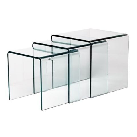 Table gigogne en verre design 12mm contact sodezign com - Table basse gigogne verre ...