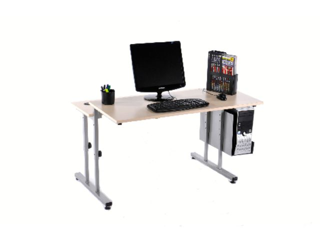 Table informatique lata 120x80 contact manutan collectivites for Table 120x80