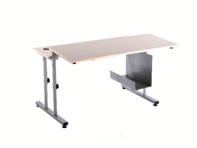 Table informatique lata r glable 120x90 2 plateaux contact manutan collectivites ex camif - Table camif ...