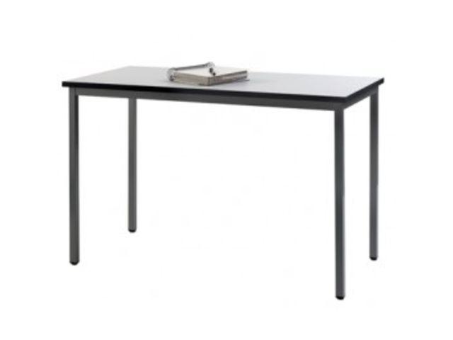 table pieds fixes 120x60 gris contact mon bureau et moi. Black Bedroom Furniture Sets. Home Design Ideas