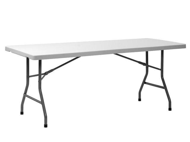 Table pliante 180 cm en poly thyl ne haute densit - Table pliante pour exposition ...