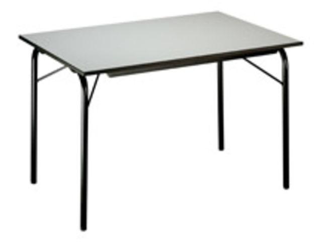 table pliante budget plateau 120 x 80 cm gris contact maxiburo. Black Bedroom Furniture Sets. Home Design Ideas
