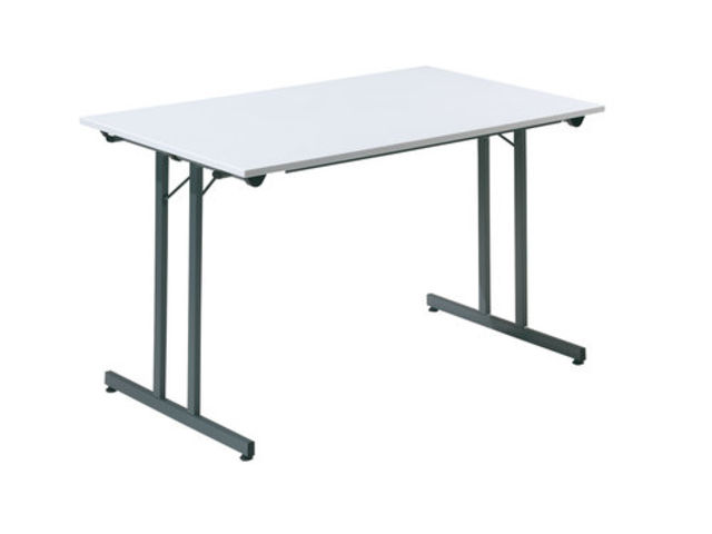 Table pliante x mm gris clair et anthracite for Table pliante exterieur professionnel