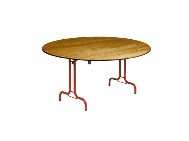 Table pliante ronde rimbaud 150 ou 180 cm contact france collectivites - Table ronde diametre 180 ...