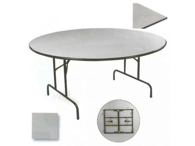 Table repliable ronde
